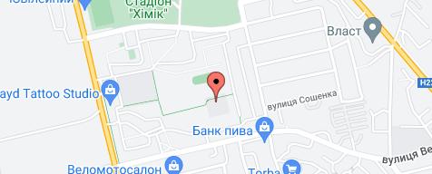 Карта місцеположень компаній