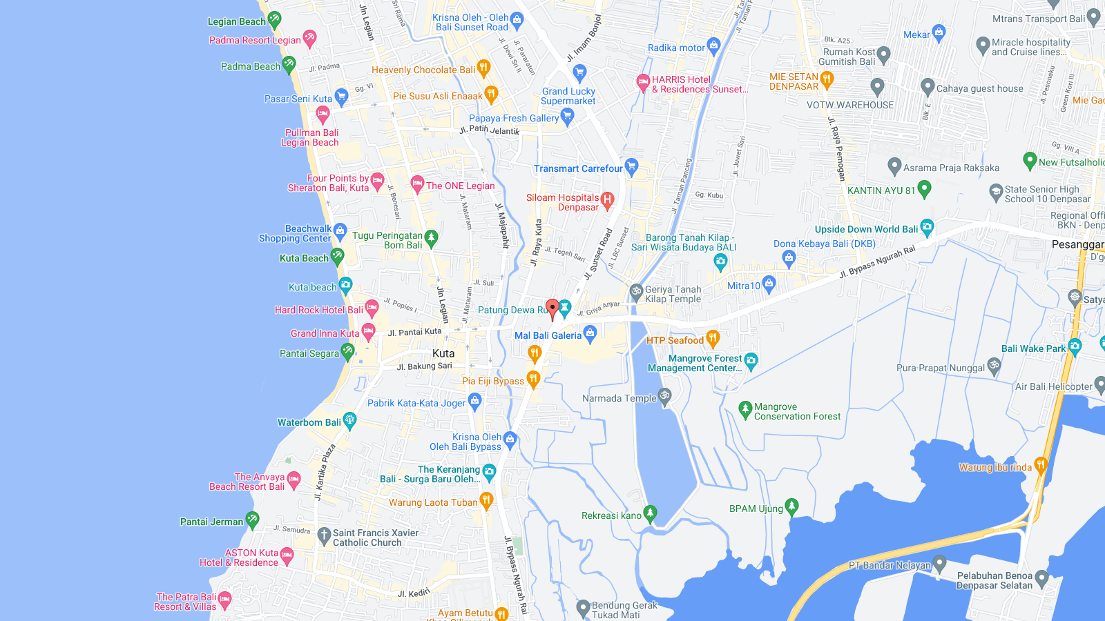 Location Map of Chinese Dragon Reflexology Kuta Bali island,Kuta Chinese Dragon Reflexology Location map,Kuta Chinese Dragon Reflexology accommodation destinations attractions hotels map