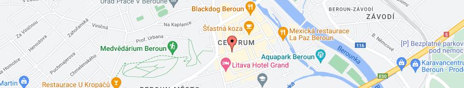 Mapa s polohou firmy