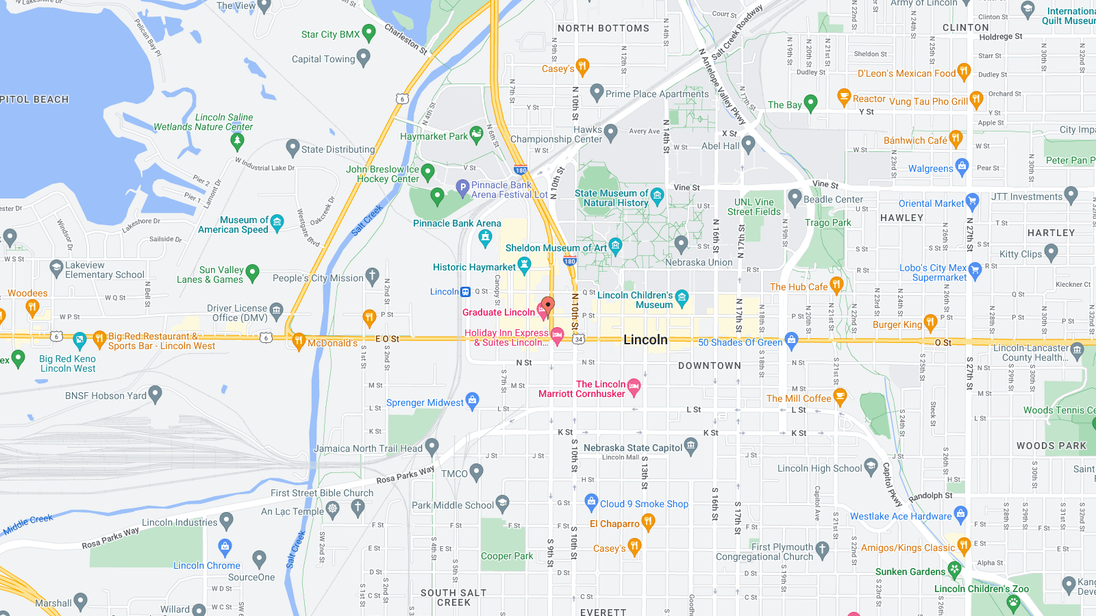 26 Excellent Map Of Downtown Lincoln Ne Bnhspine Com